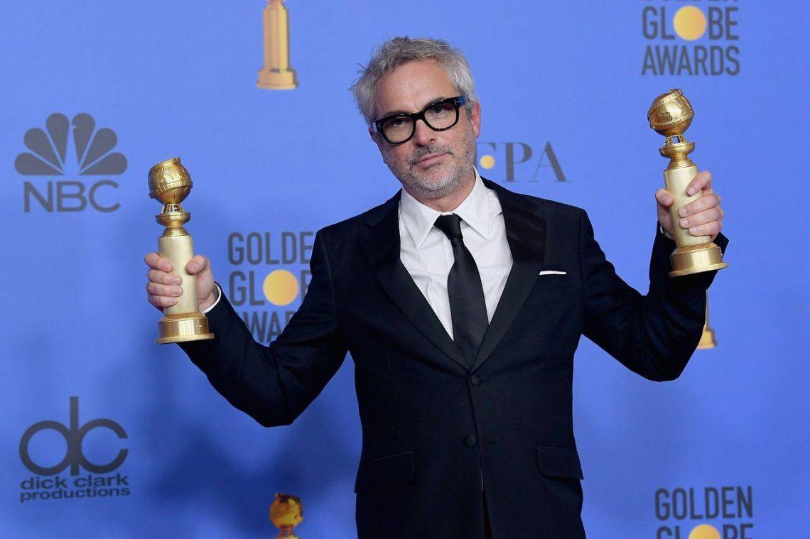 Alfonso Cuarón (Roma) - Mejor Director   Mejor Película Extranjera