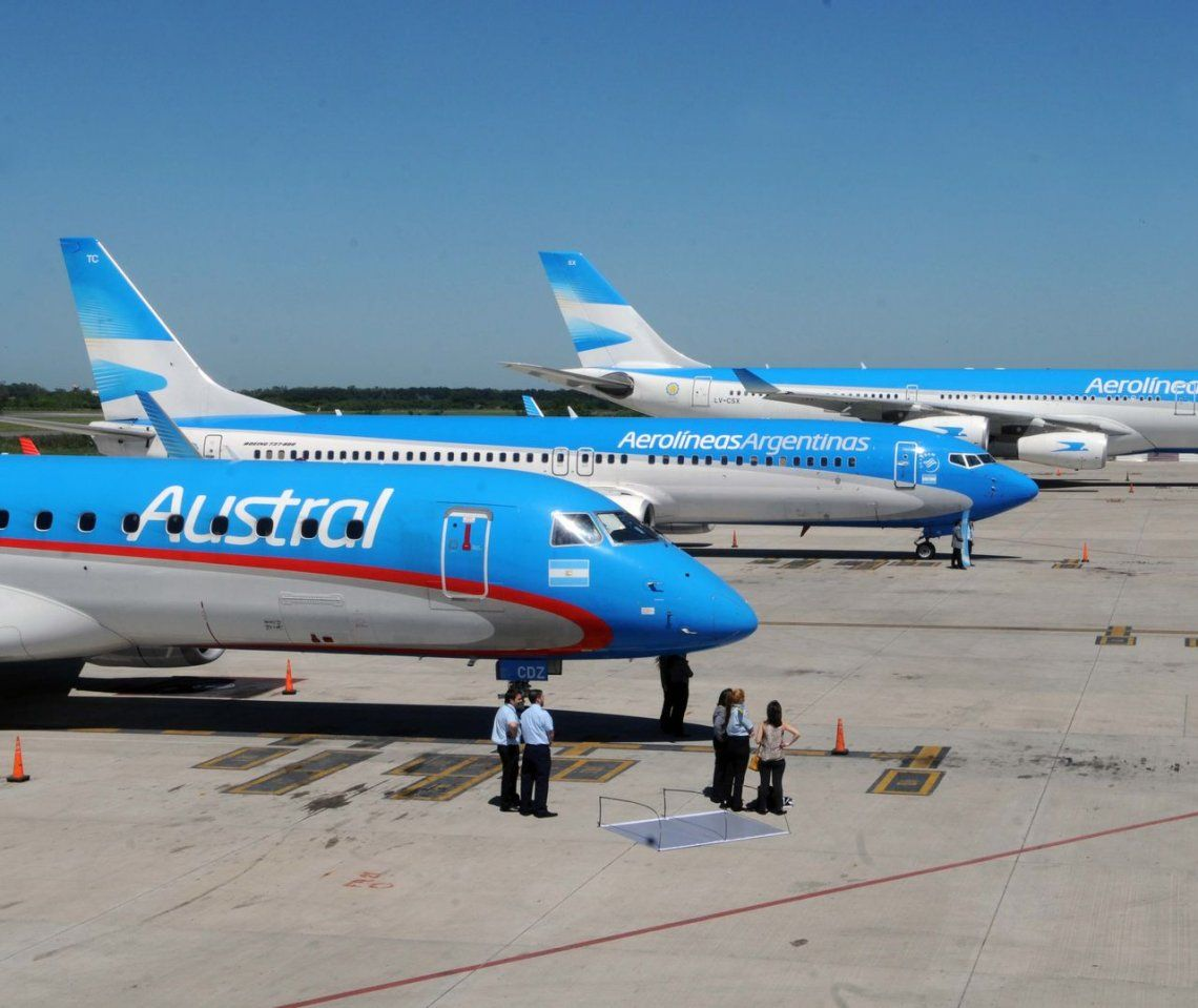 Aerolíneas y Austral: el Gobierno estima que la pérdida operativa será de $1.652 millones