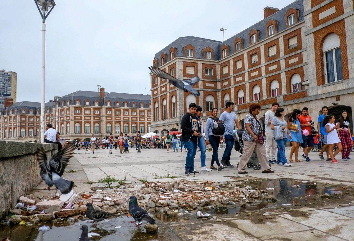 Mar del Plata: día de tormentas, rayos e incendio