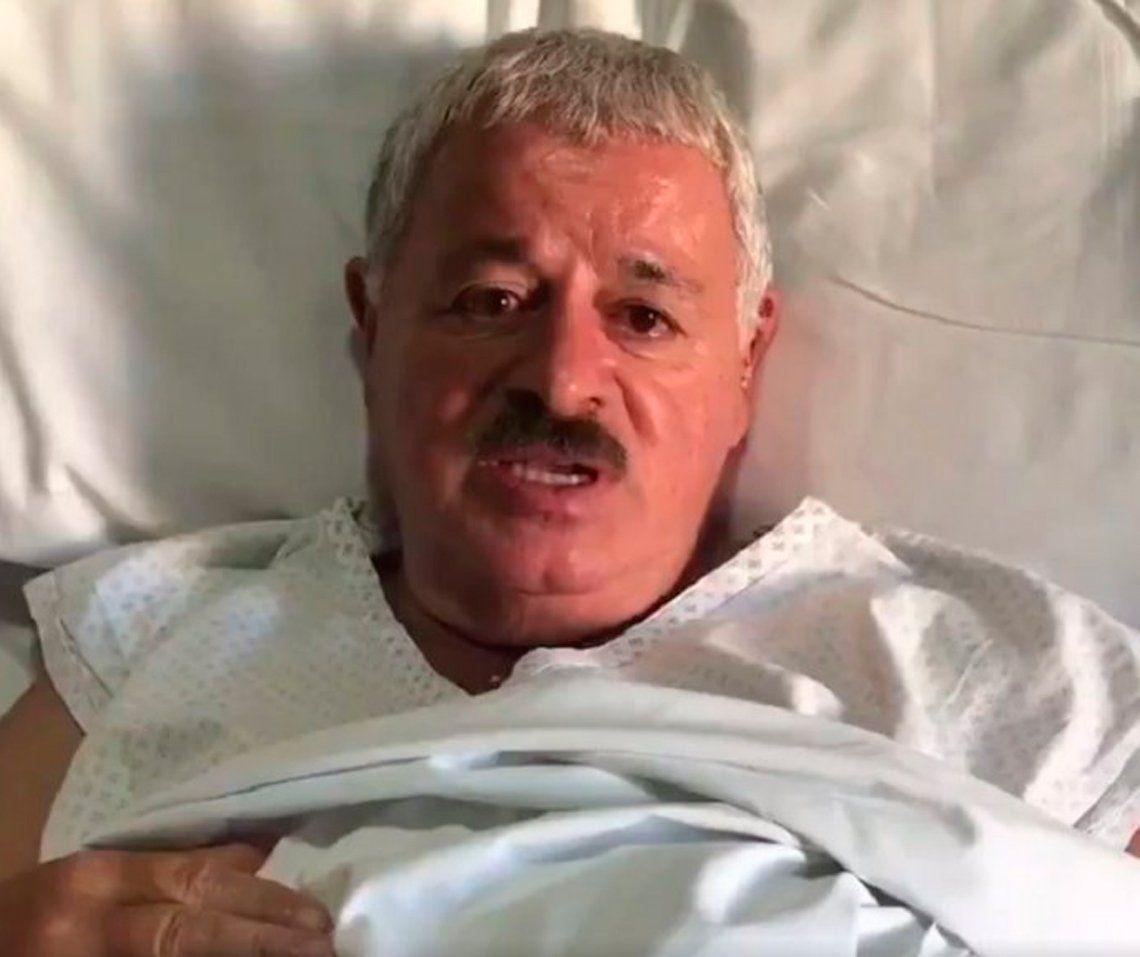 Internaron a Tití Fernández: lo operarán y le harán 3 bypass