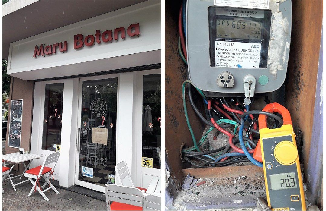 Maru Botana estaba colgada de la luz y Edenor le retiró el medidor de electricidad de uno de sus locales de pastelería