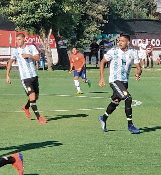 Triunfo amistoso del Sub-20 ante  los chilenos