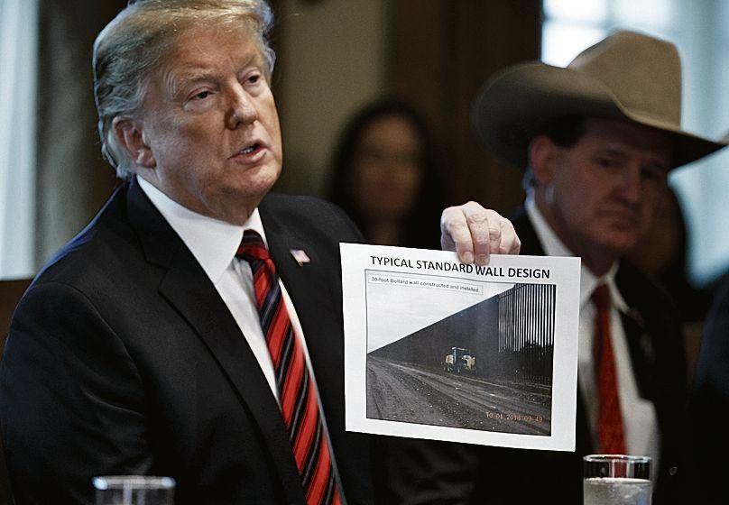 """dTrump tuiteó que la situación en la frontera es """"mucho peor"""" de lo que se imaginaba."""