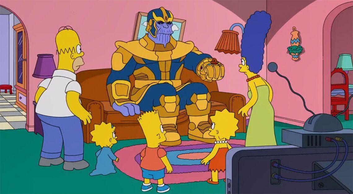 Avengers: Thanos llegó a Springfield y Los Simpsons sufrieron su poder