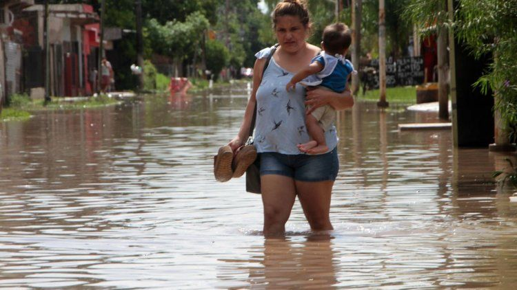 Chaco: el número de evacuados por las inundaciones asciende a 2476