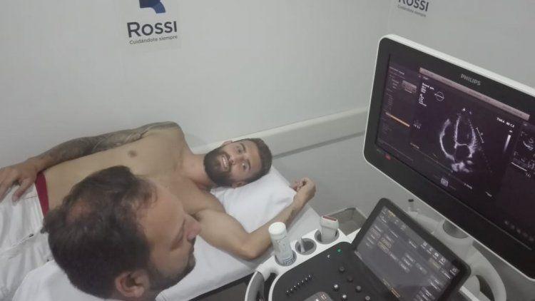 Gino Peruzzi pasó la revisión médica en el Centro Rossi -@CentroRossi
