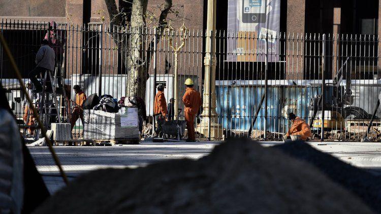 Declararon ilegal la instalación de las rejas de Plaza de Mayo