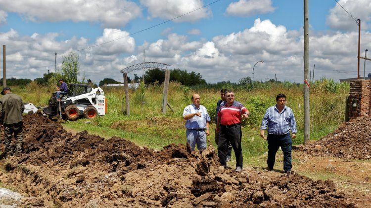 Berazategui: avanza obra de cloacas en Sourigues