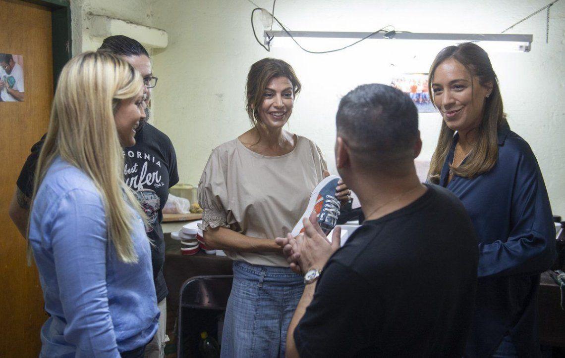 La Matanza: María Eugenia Vidal y Juliana Awada se reunieron con zapateros