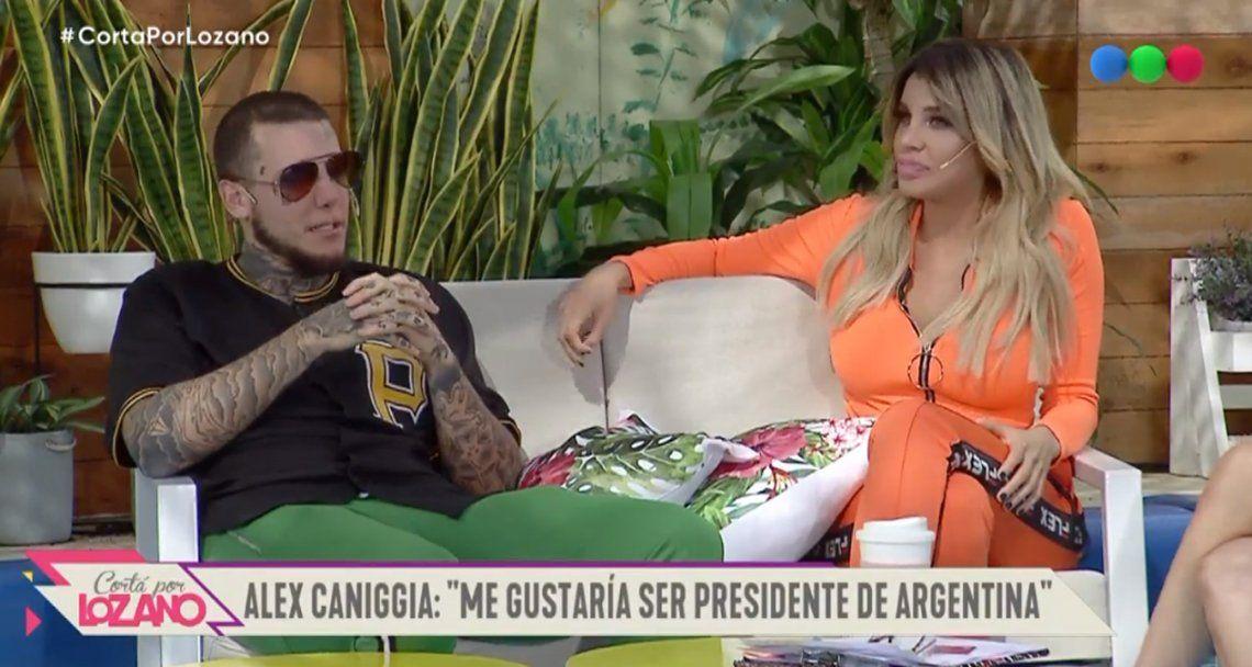 Alex Caniggia asegura que le gustaría ser presidente de la Argentina