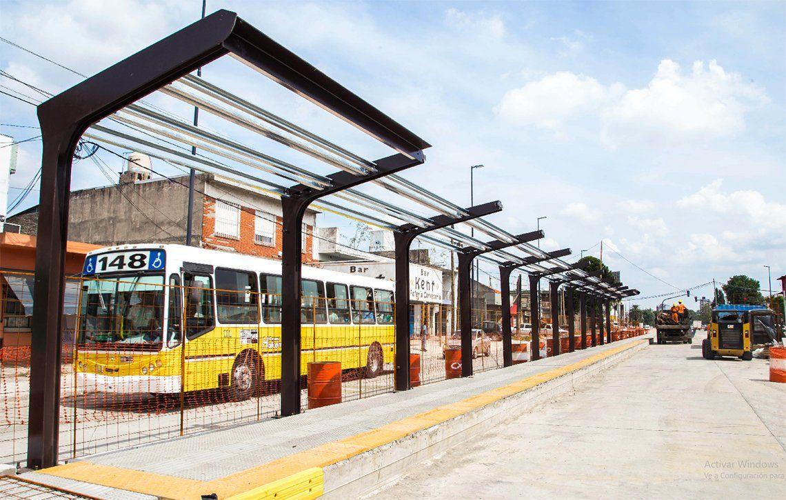 Quilmes: construyen las estaciones del Metrobus