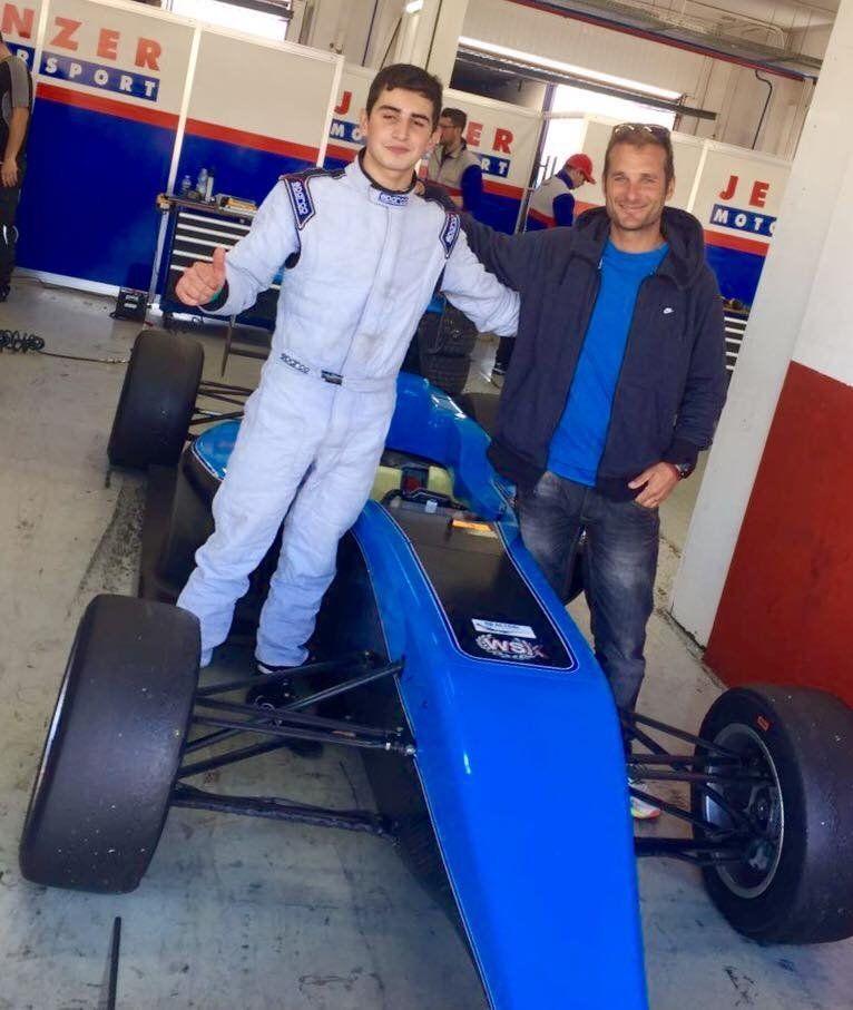 Crespi durante su actividad como mentor y capacitador de pilotos junto al Jenzer Motorsport.