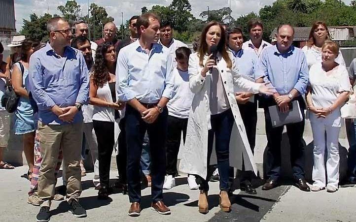 María Eugenia Vidal inauguró obras hidráulicas en La Plata