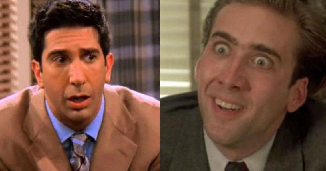 El increíble video que demuestra que Ross de Friends es igual a Nicolas Cage