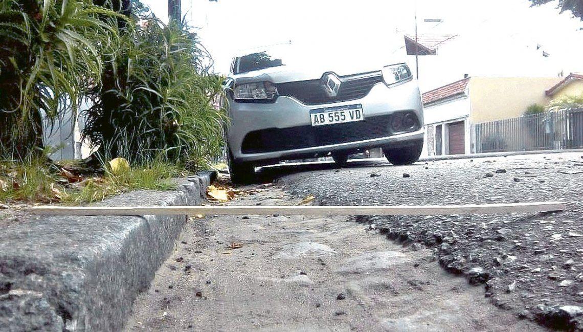 dLos vecinos captaron imágenes de los trabajos y advirtieron de los problemas ante una fuerte lluvia.