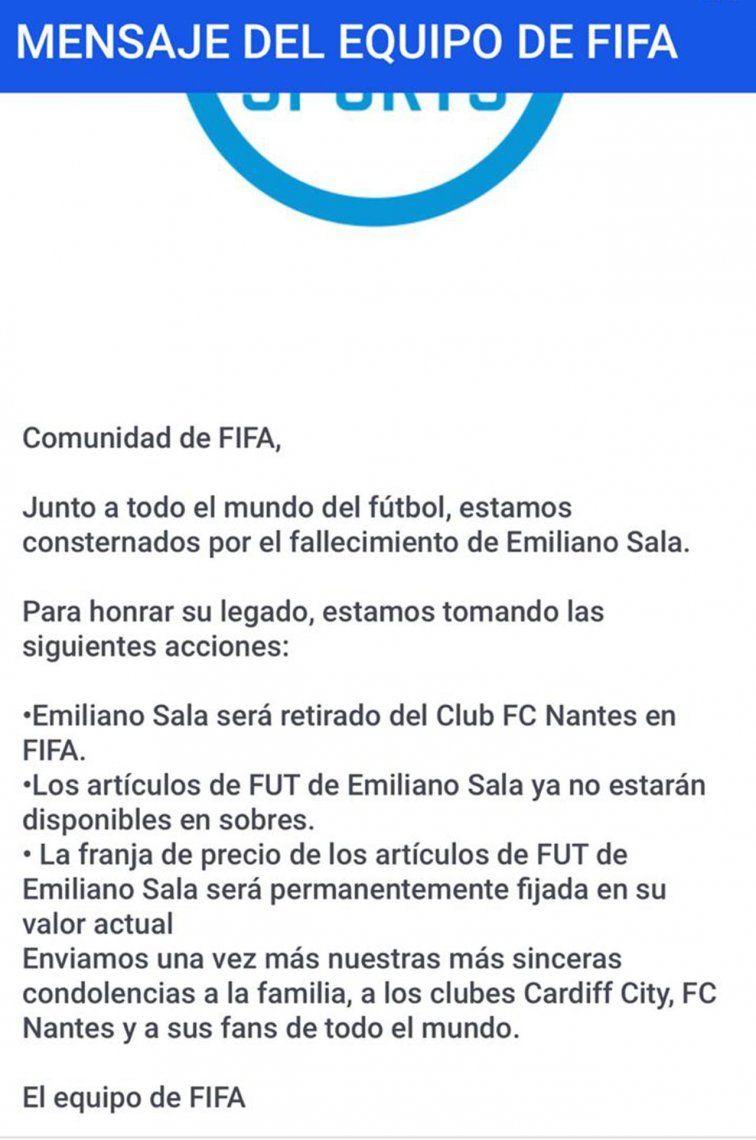 Emiliano Sala: las reacciones de FIFA 19 y PES tras la tragedia