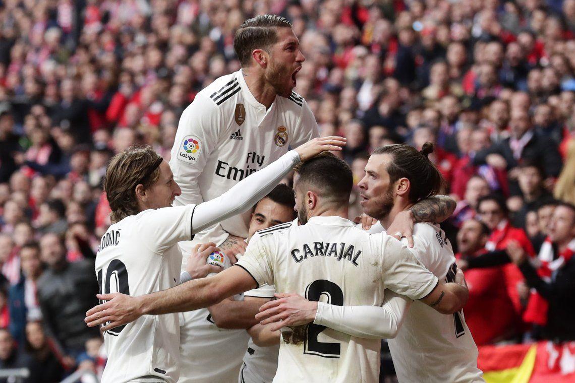 El Real de Solari le ganó el derbi de Madrid al Atlético de Simeone
