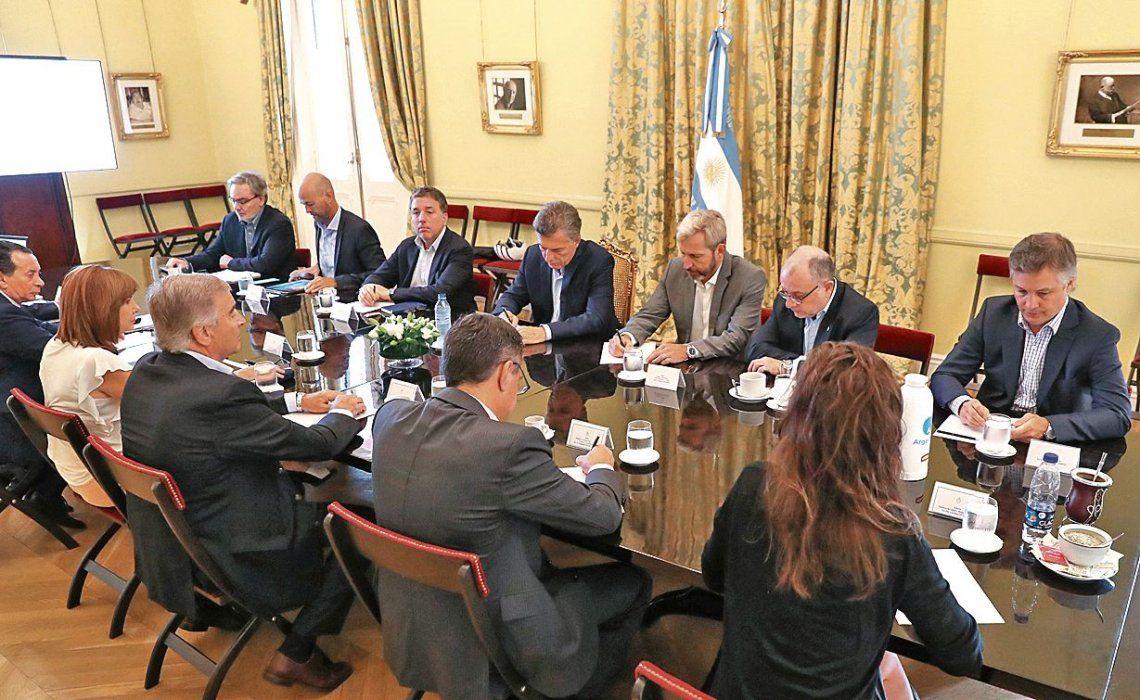 dUna vista de la reunión de Gabinete realizada ayer.