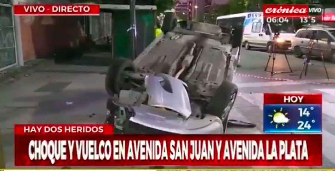 Mañana de choques en Boedo y la Autopista Illia