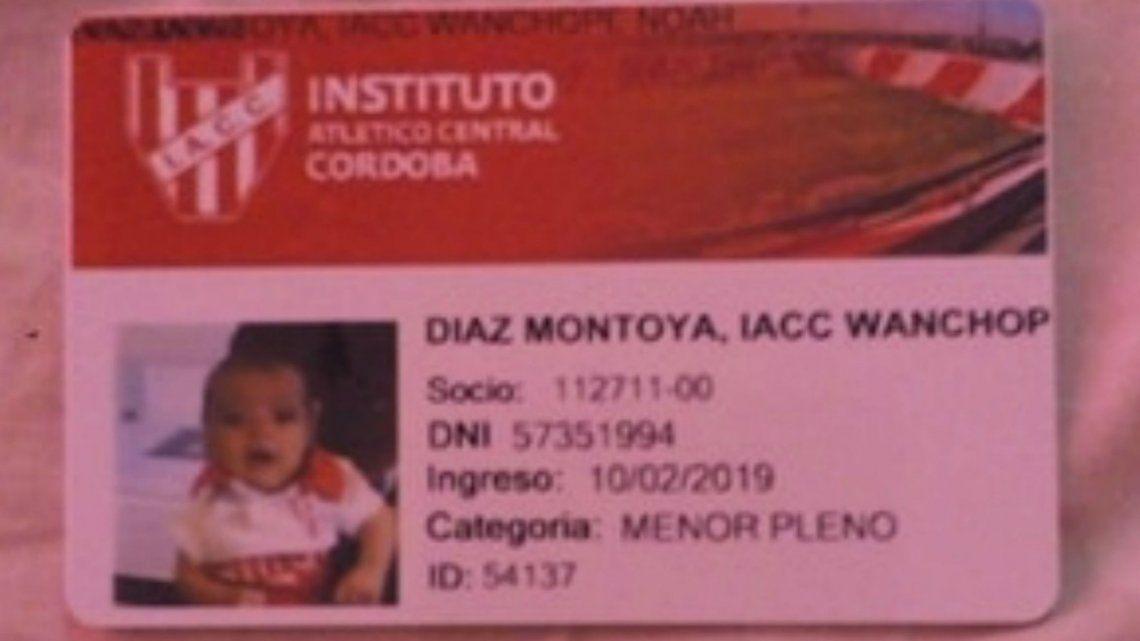 Hinchas de Instituto le pusieron de nombre a su hijo... ¡Iacc Wanchope!