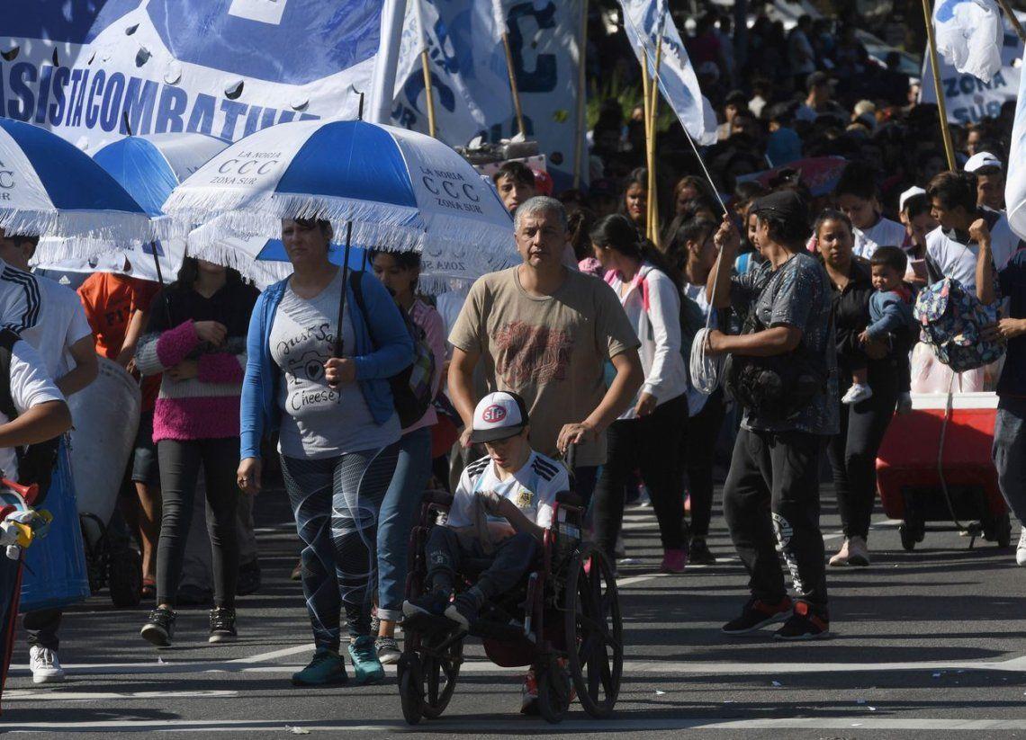 En fotos: los movimientos sociales coparon la ciudad