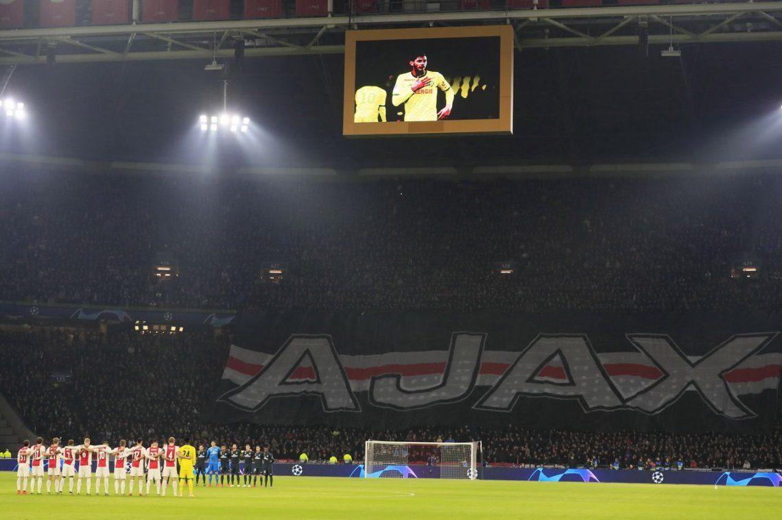 Ajax-Real Madrid: el minuto de silencio por Emiliano Sala en el duelo de ida por los octavos de la Champions League
