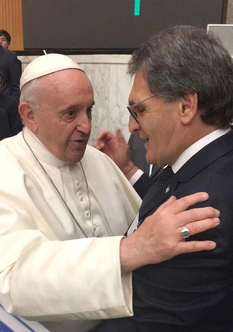 Representantes de colectividades que viven en Argentina se reunieron con el Papa Francisco