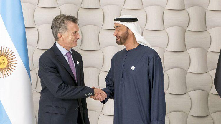 Macri se reunió con el príncipe heredero de los Emiratos Árabes Unidos