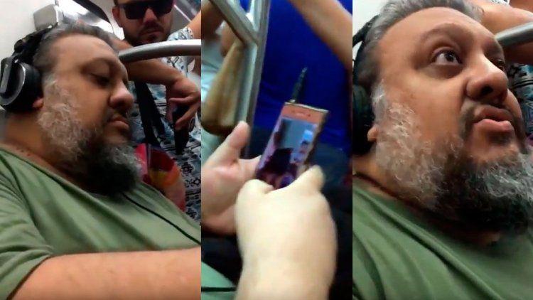 Escracharon a un hombre que les sacaba fotos a mujeres en el subte