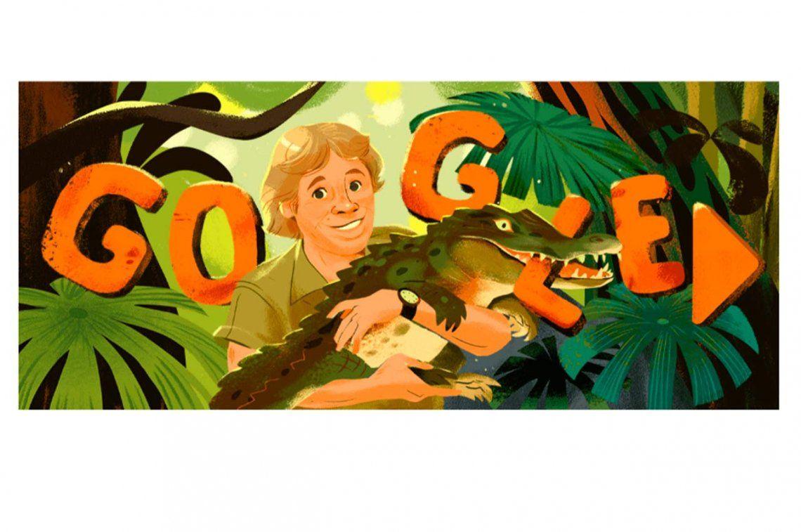 Google celebra la vida de Steve Irwin