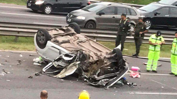 Choque fatal en Panamericana: un muerto y seis kilómetros de demora