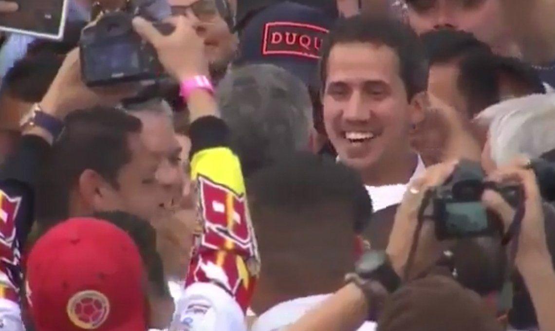 Juan Guaidó fue a Cúcuta y estuvo entre el público del Venezuela Aid Live