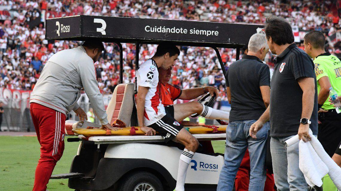 Las lesiones persiguen a River: se sumaron Casco y Nacho Fernández