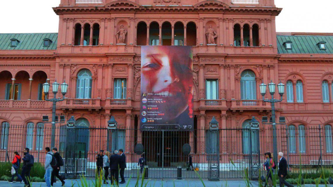La Casa Rosada homenajeó a Justina Lo Cane