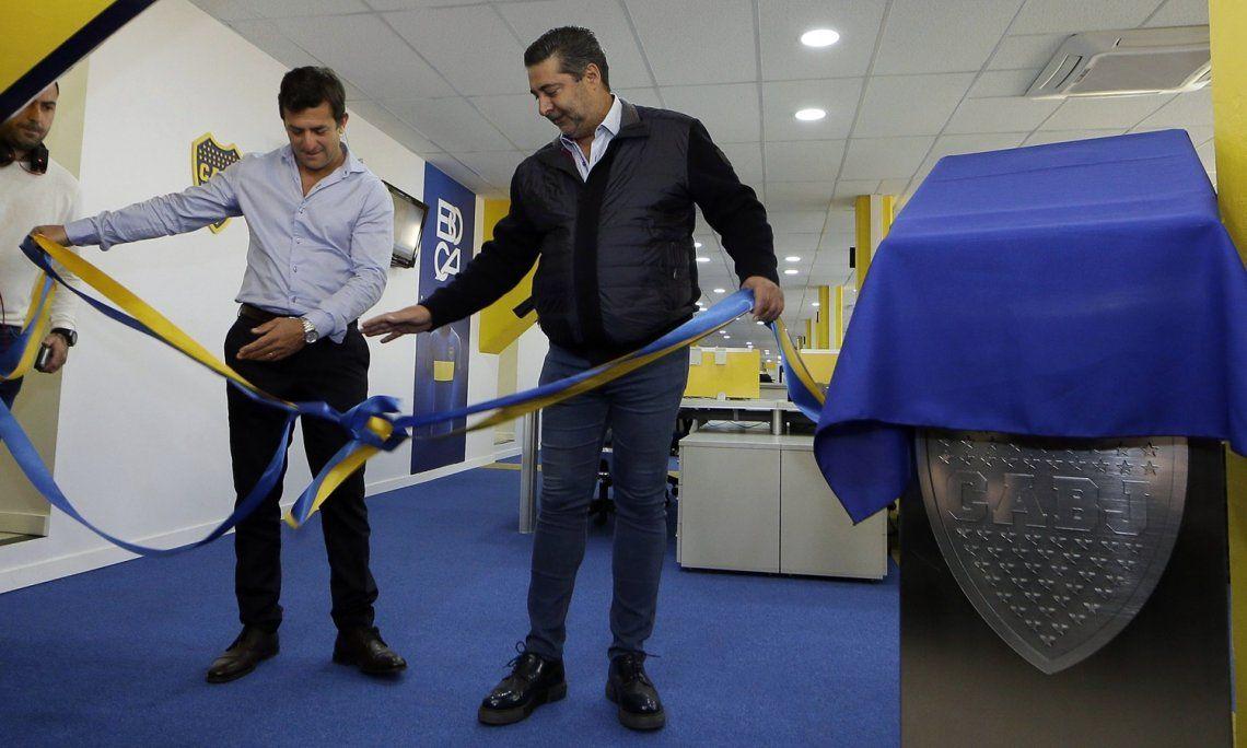Daniel Angelici confirmó a Christian Gribaudo como su candidato a presidente de Boca y Mauricio Macri lo apoya