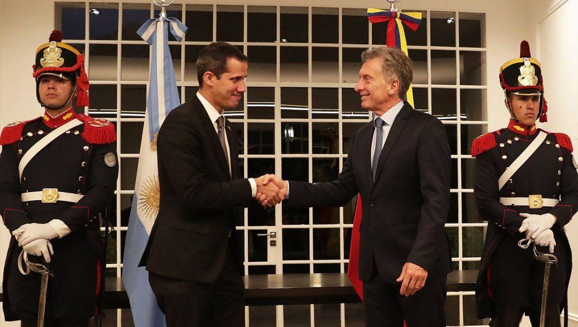 Macri recibió a Juan Guaidó en la Quinta de Olivos
