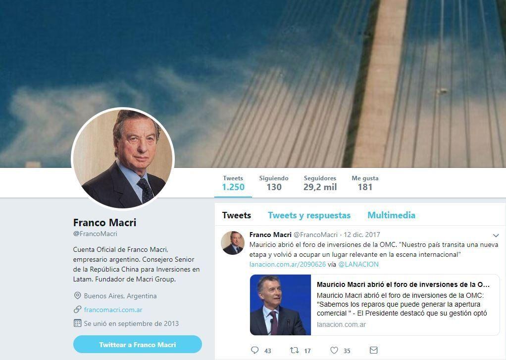 Franco Macri en Twitter: sus definiciones más trascendentes en la red social