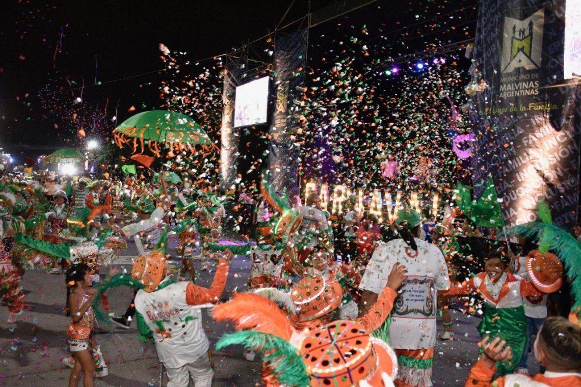Finalizó con gran éxito el Carnaval de la Familia en Malvinas Argentinas