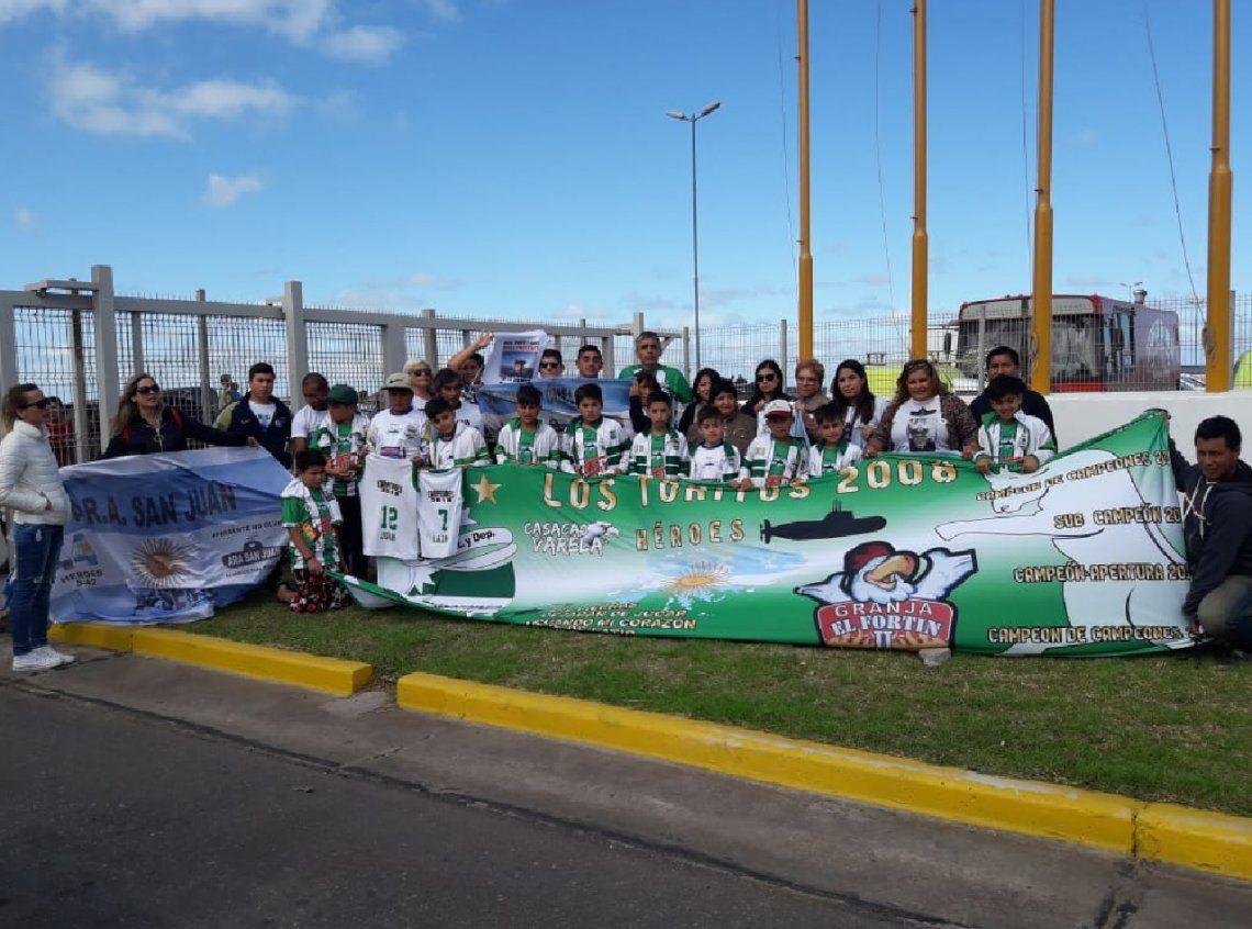 Florencio Varela: pibes de un club homenajearon a los héroes del ARA San Juan