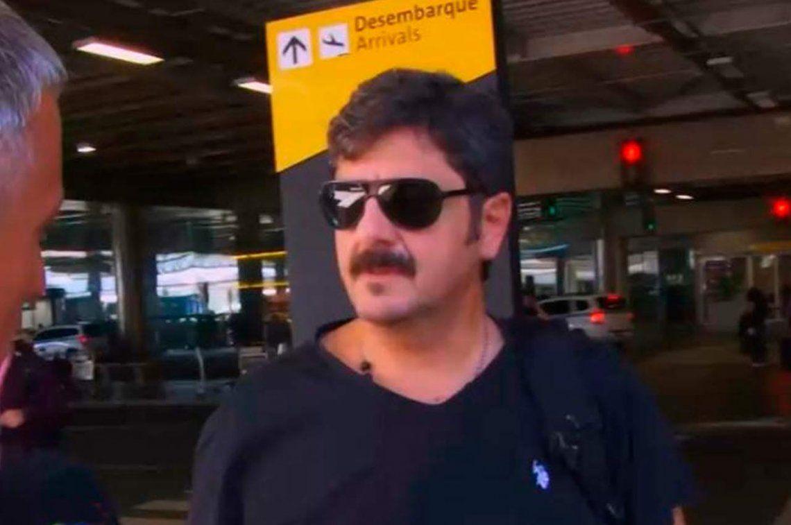 El hermano de Darthés viajó preocupado a Brasil