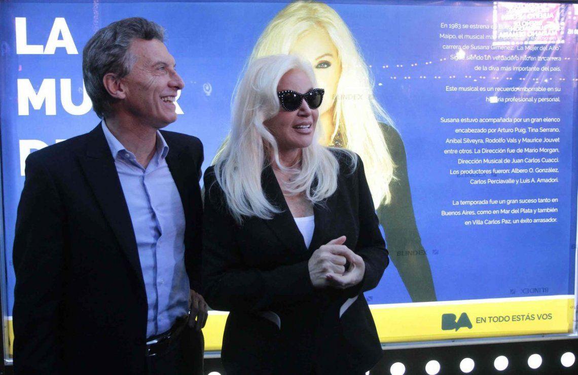 Susana Giménez apoyó la reelección de Macri y dijo: Antes que el peronismo prefiero cualquier cosa