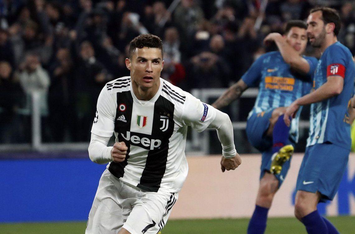 Cristiano Ronaldo metió un triplete para que la Juventus remonte la eliminatoria ante el Atlético Madrid