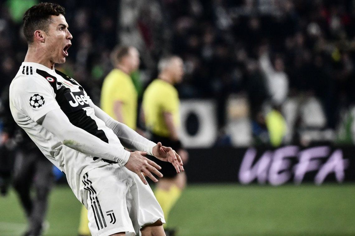 ¿Dedicatoria? Cristiano Ronaldo imitó con vehemencia el gesto del Cholo Simeone