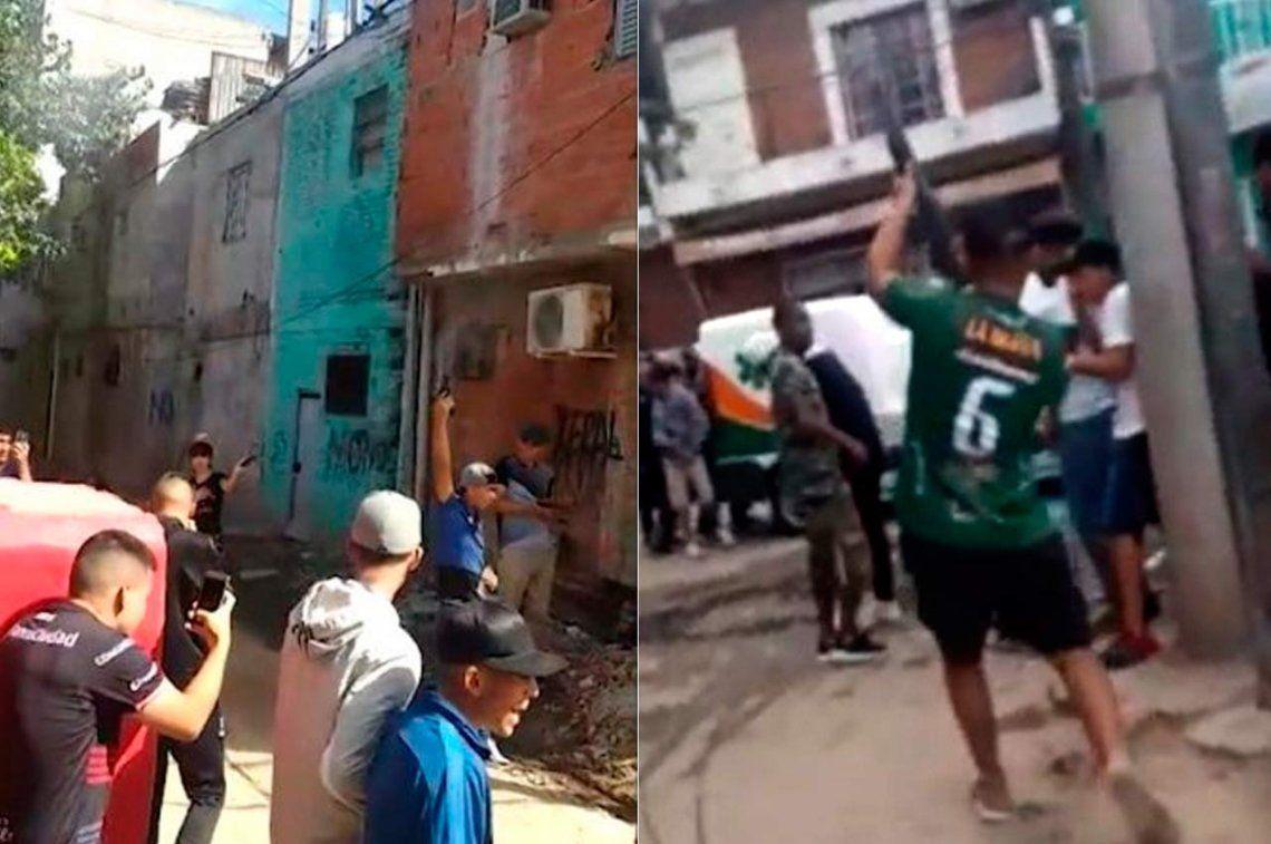 Investigarán a jóvenes que dispararon al aire en el velatorio de un delincuente en la Villa Zavaleta