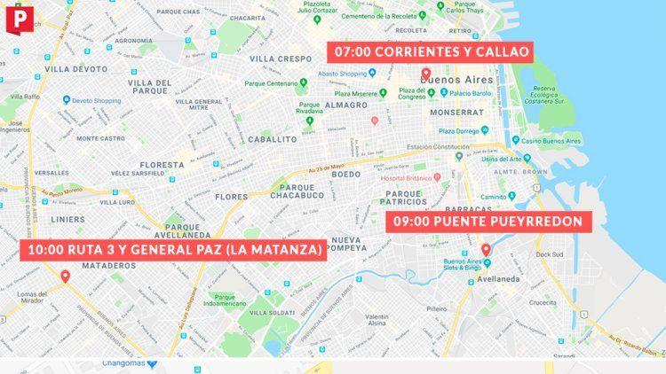Mapa | Miércoles de cortes y ollas populares en todo el país