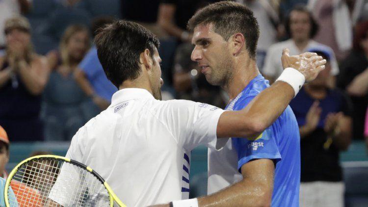 Delbonis luchó, pero no pudo ante la potencia de Djokovic