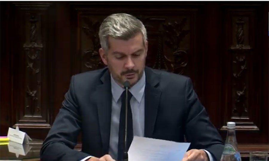 Marcos Peña presentó el informe de gestión en el Senado: Estamos poniendo las bases para salir del estancamiento de tantos años