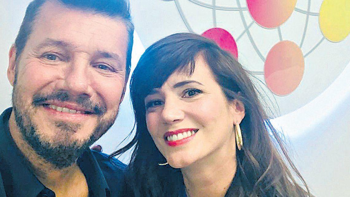 Marcelo Tinelli le dio la bienvenida a Griselda Siciliani al Super Bailando