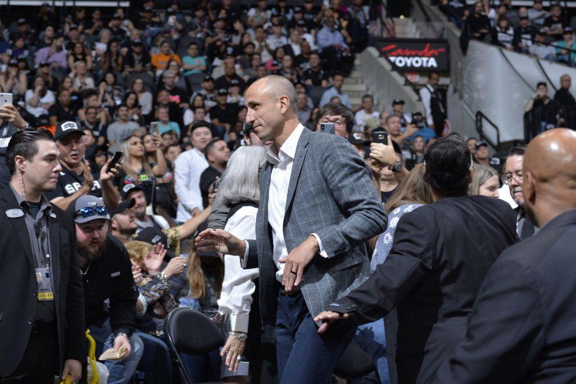 Histórico: San Antonio Spurs retiró la camiseta número 20 en honor a Emanuel Ginóbili