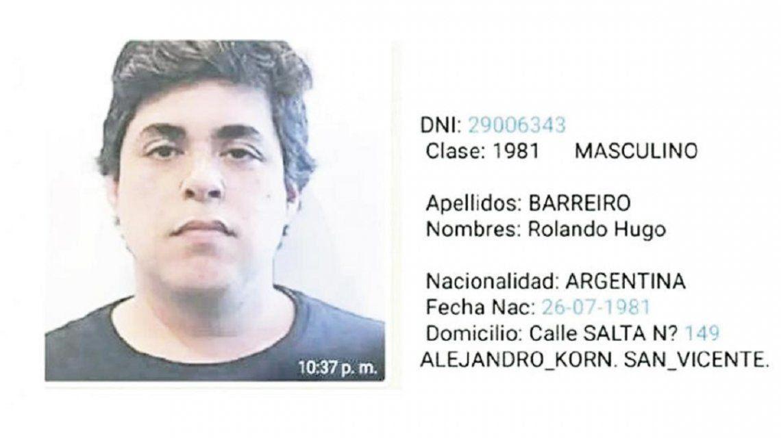 Se entregó Rolando Hugo Barreiro, el espía de la AFI que operaba con el falso abogado Marcelo DAlessio